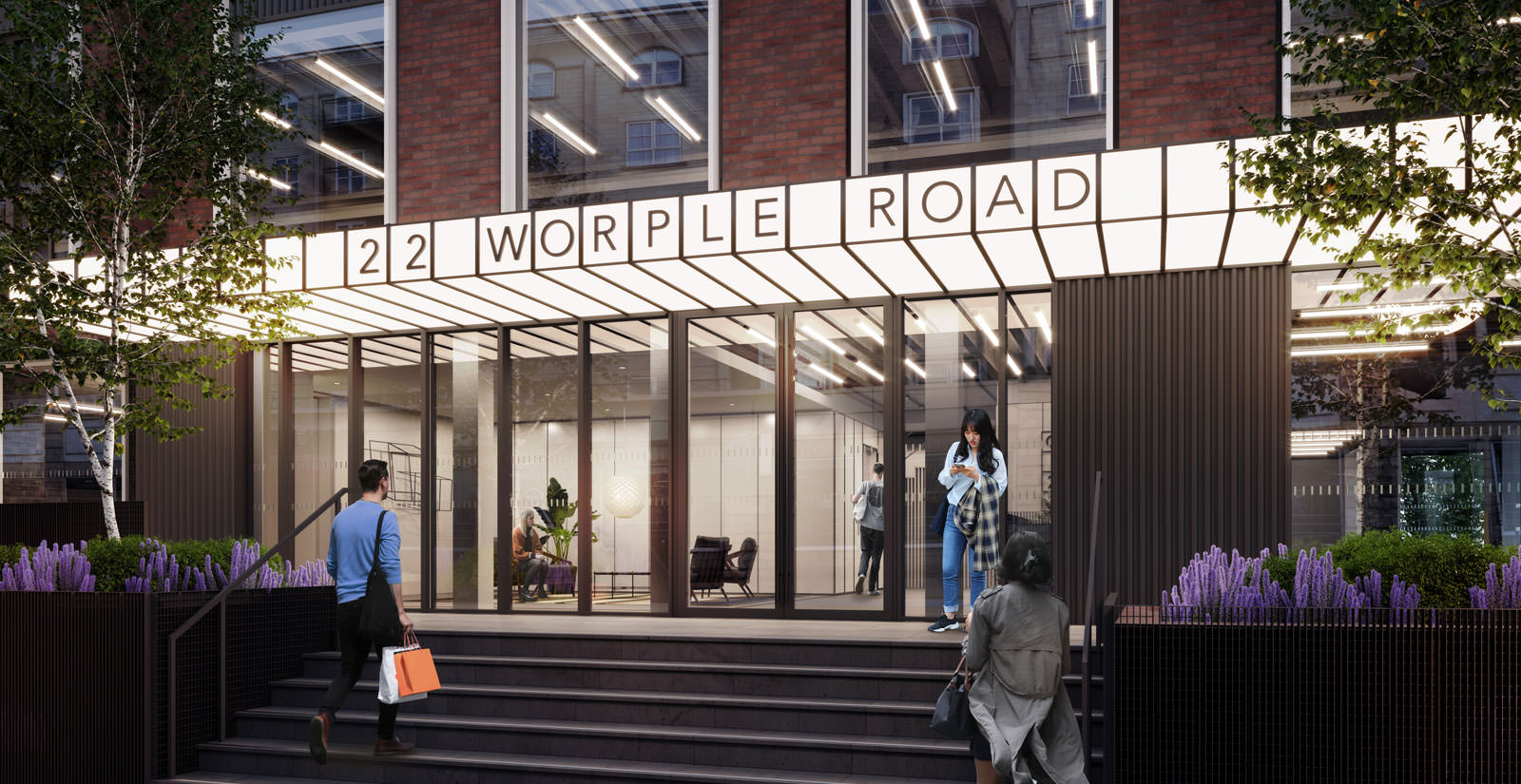 22 Worple Road entrance exterior CGI